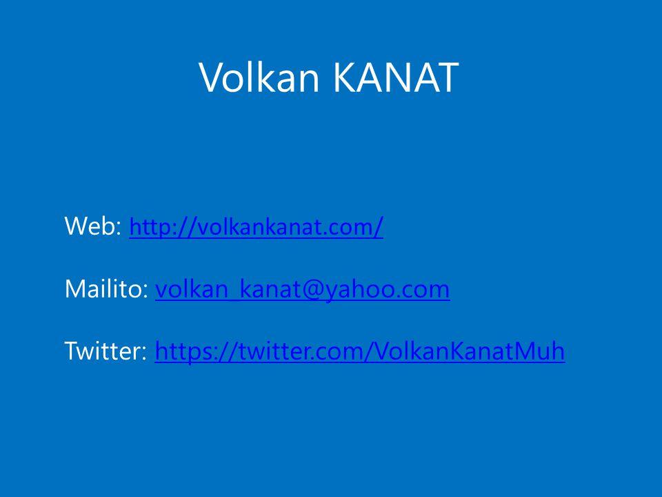 Volkan KANAT Web: http://volkankanat.com/
