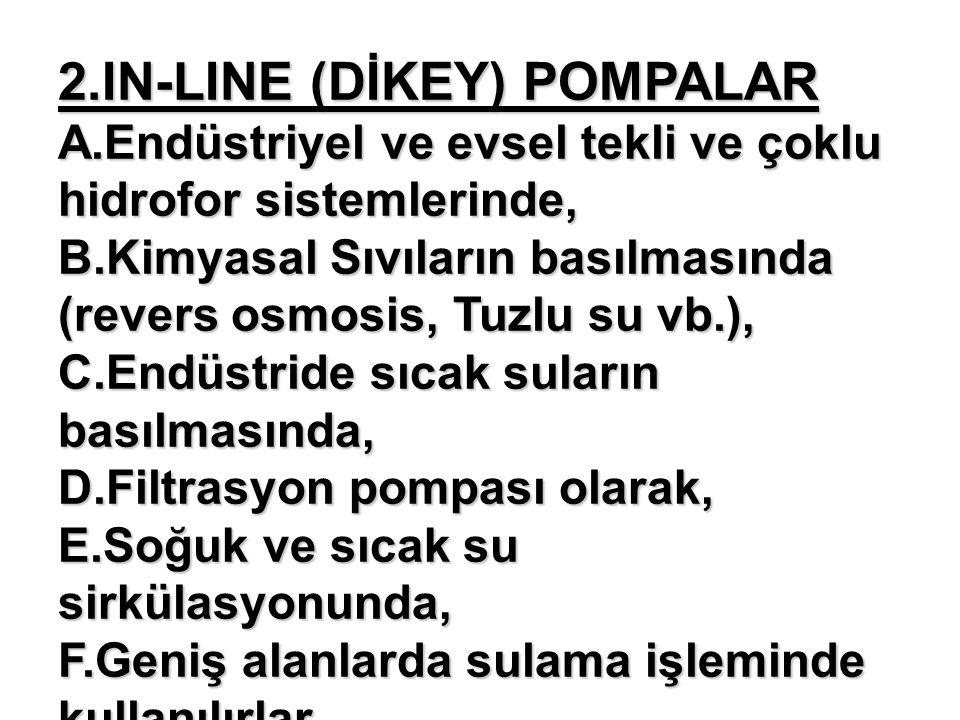 2. IN-LINE (DİKEY) POMPALAR A