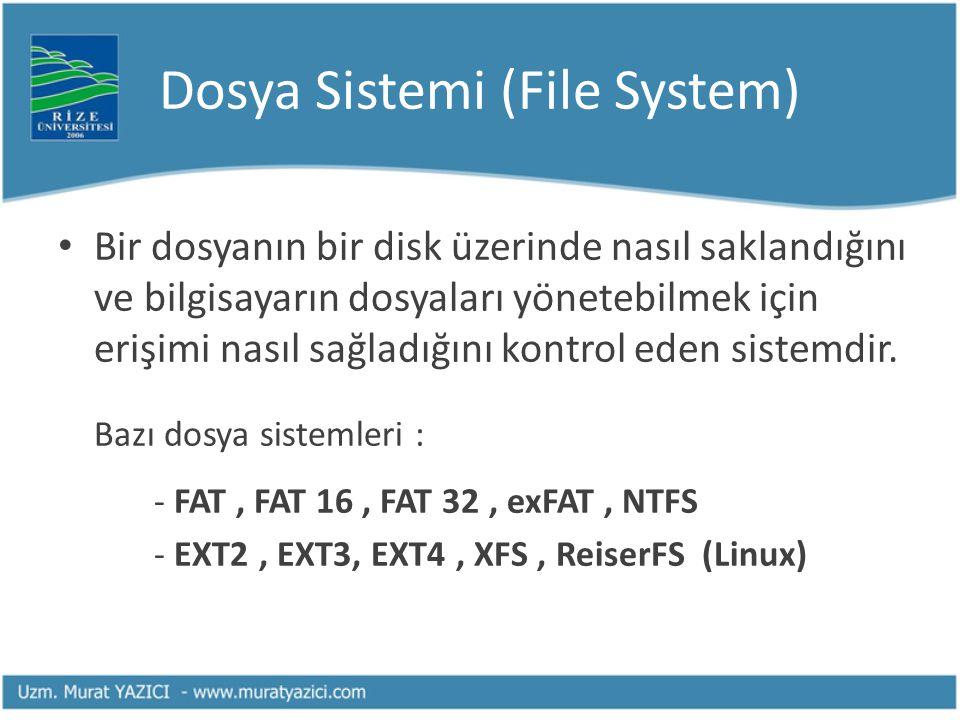Dosya Sistemi (File System)