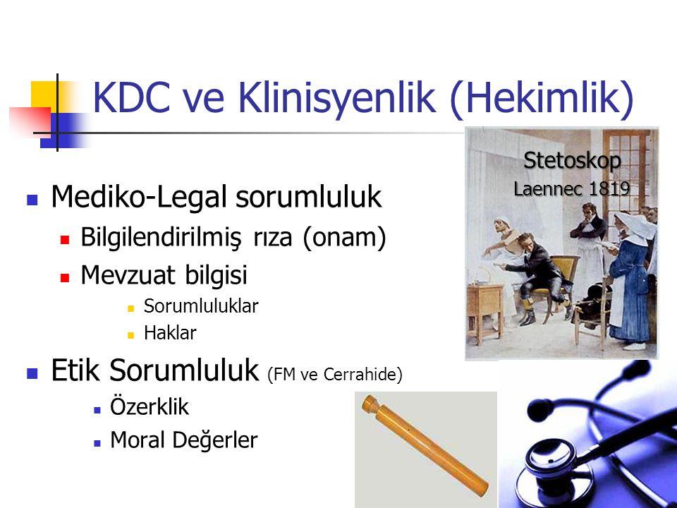 KDC ve Klinisyenlik (Hekimlik)
