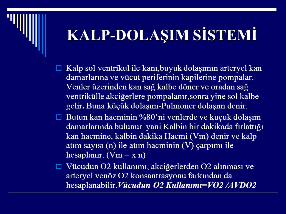 KALP-DOLAŞIM SİSTEMİ