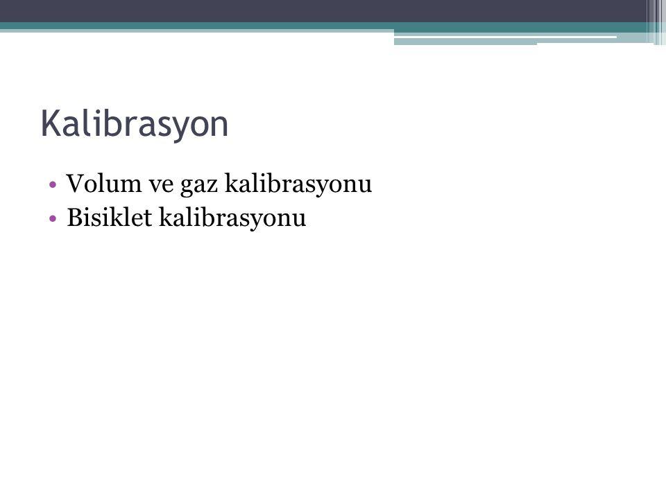 Kalibrasyon Volum ve gaz kalibrasyonu Bisiklet kalibrasyonu