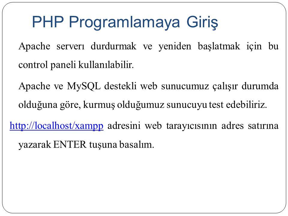 PHP Programlamaya Giriş