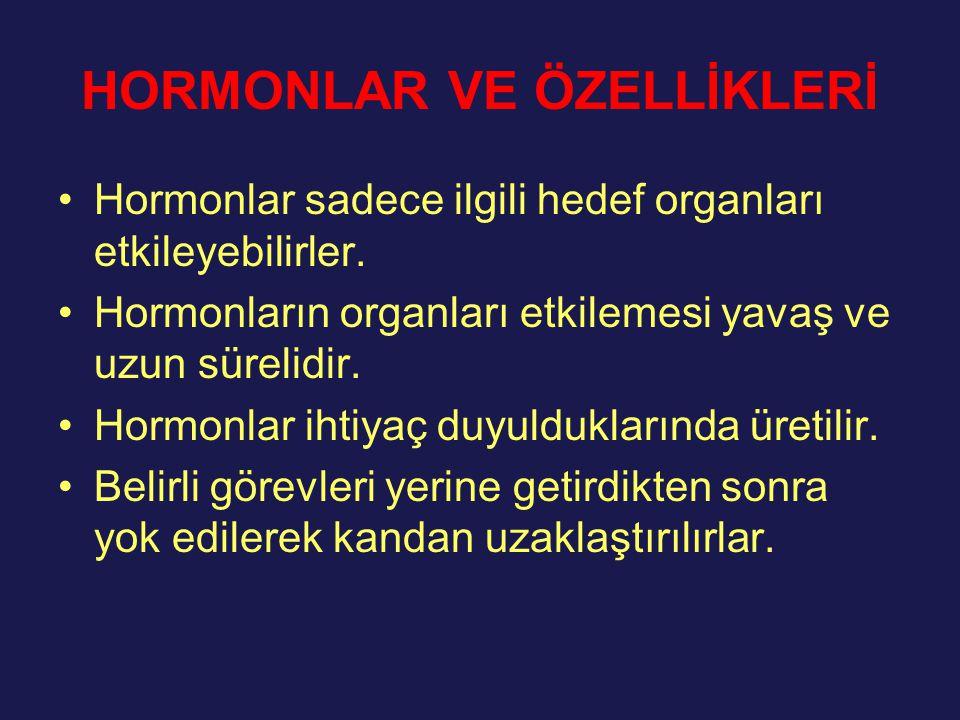 HORMONLAR VE ÖZELLİKLERİ
