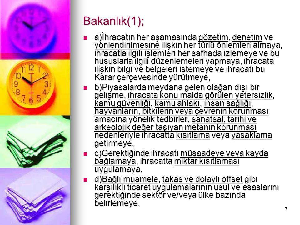 Bakanlık(1);
