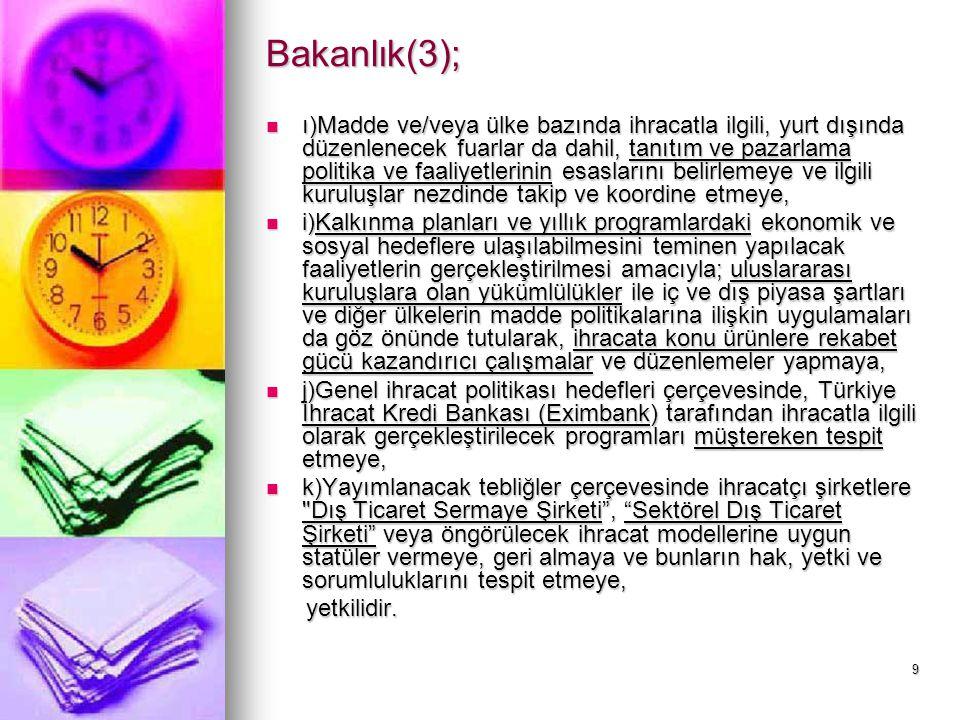 Bakanlık(3);
