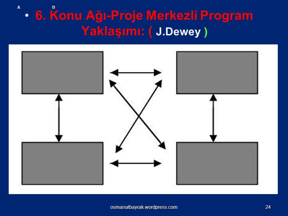 6. Konu Ağı-Proje Merkezli Program Yaklaşımı: ( J.Dewey )
