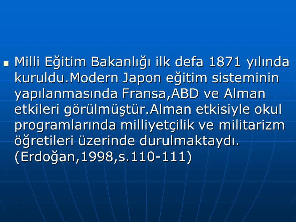 Milli Eğitim Bakanlığı ilk defa 1871 yılında kuruldu