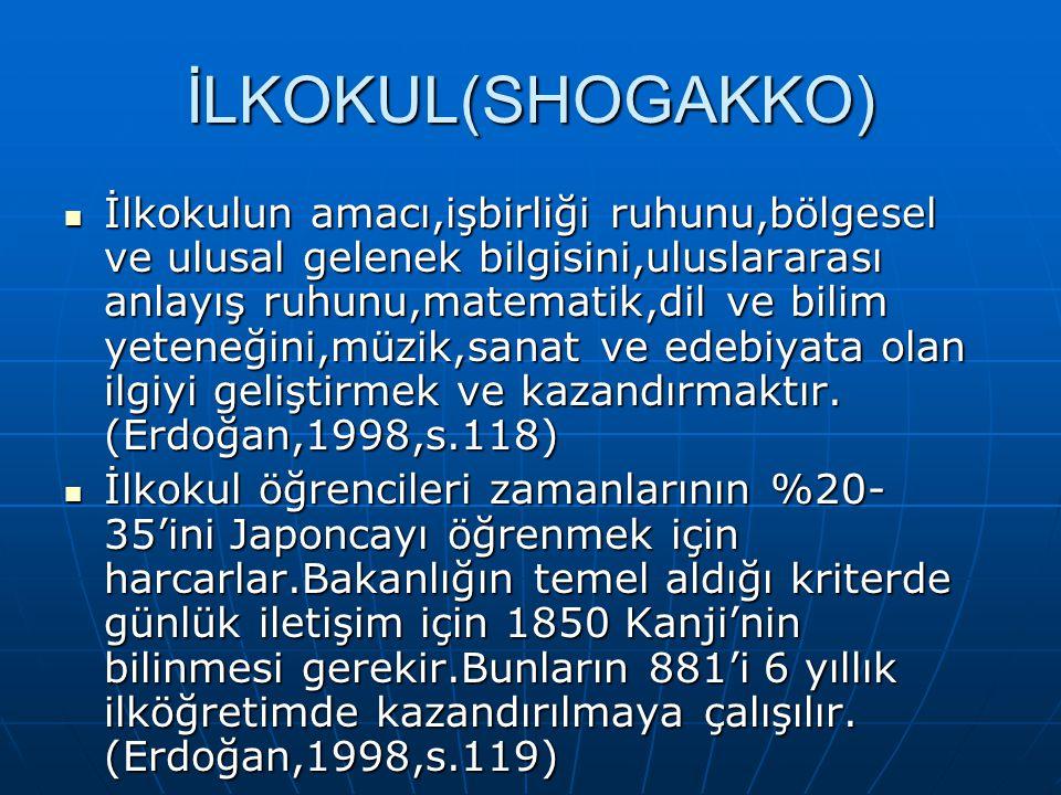 İLKOKUL(SHOGAKKO)