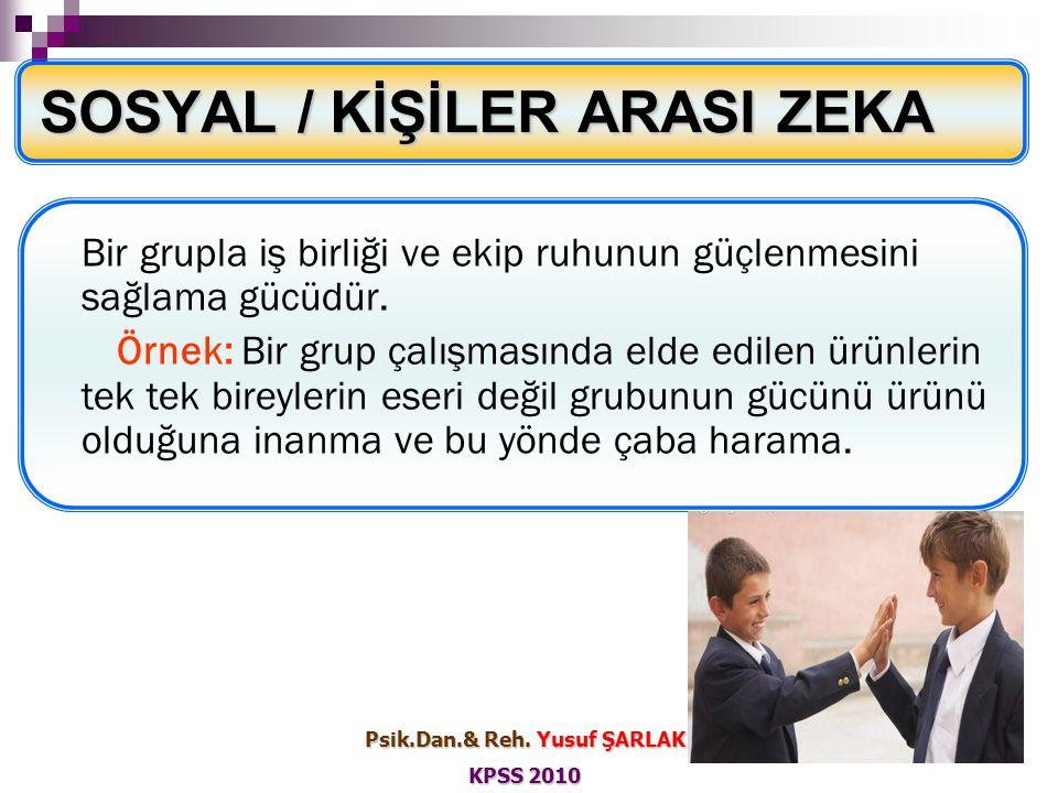 SOSYAL / KİŞİLER ARASI ZEKA