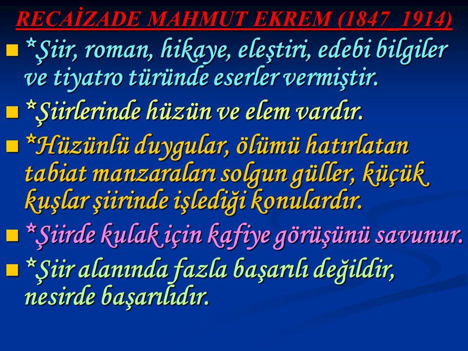 RECAİZADE MAHMUT EKREM (1847_1914)
