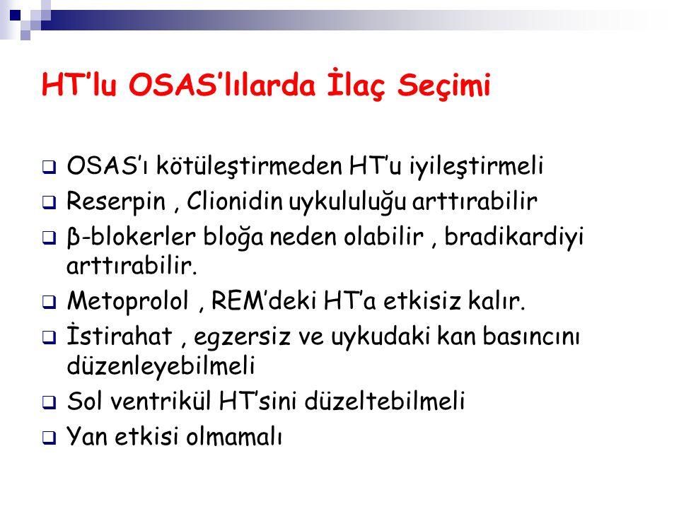 HT'lu OSAS'lılarda İlaç Seçimi
