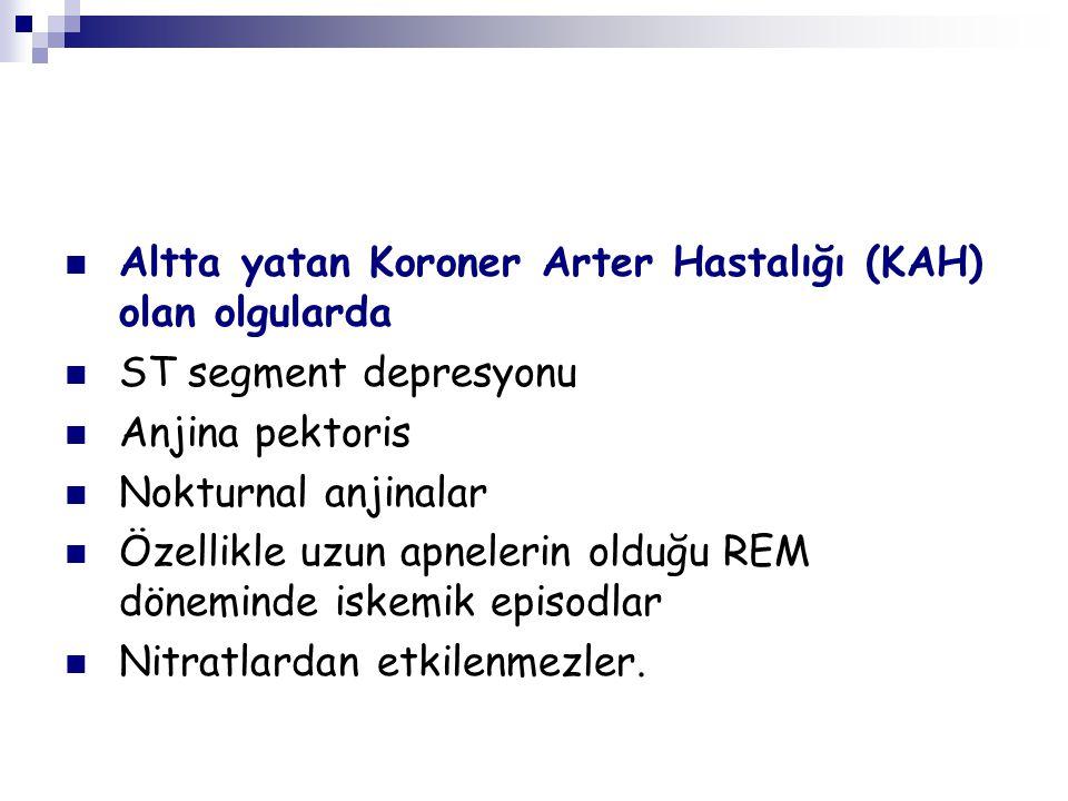 Altta yatan Koroner Arter Hastalığı (KAH) olan olgularda