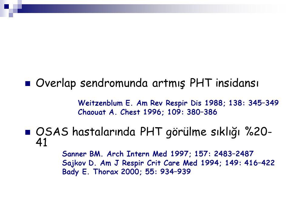 Overlap sendromunda artmış PHT insidansı