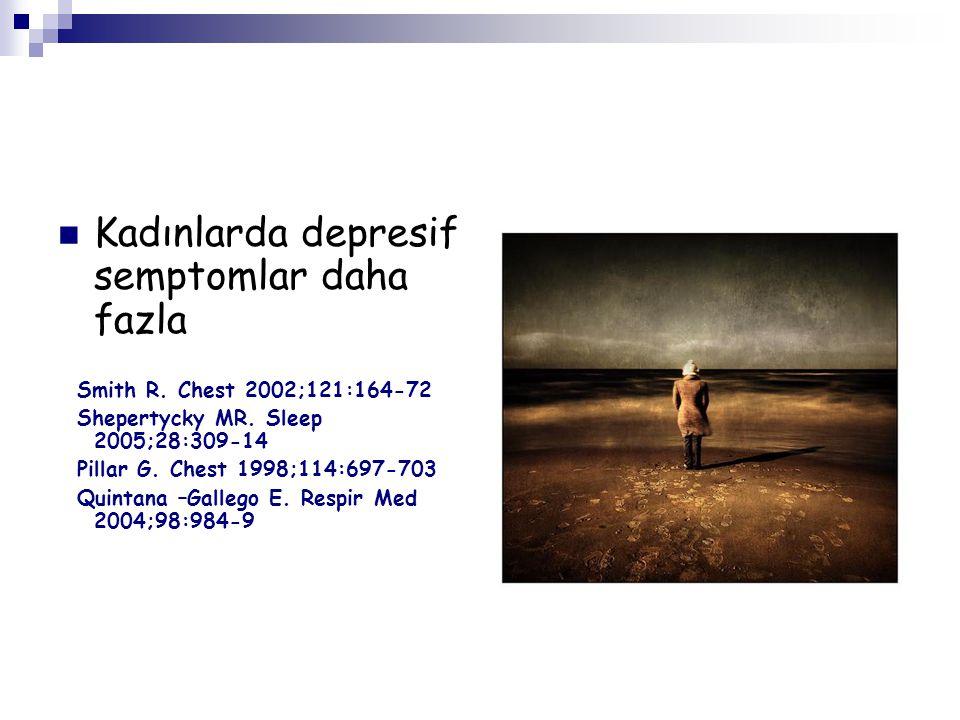 Kadınlarda depresif semptomlar daha fazla
