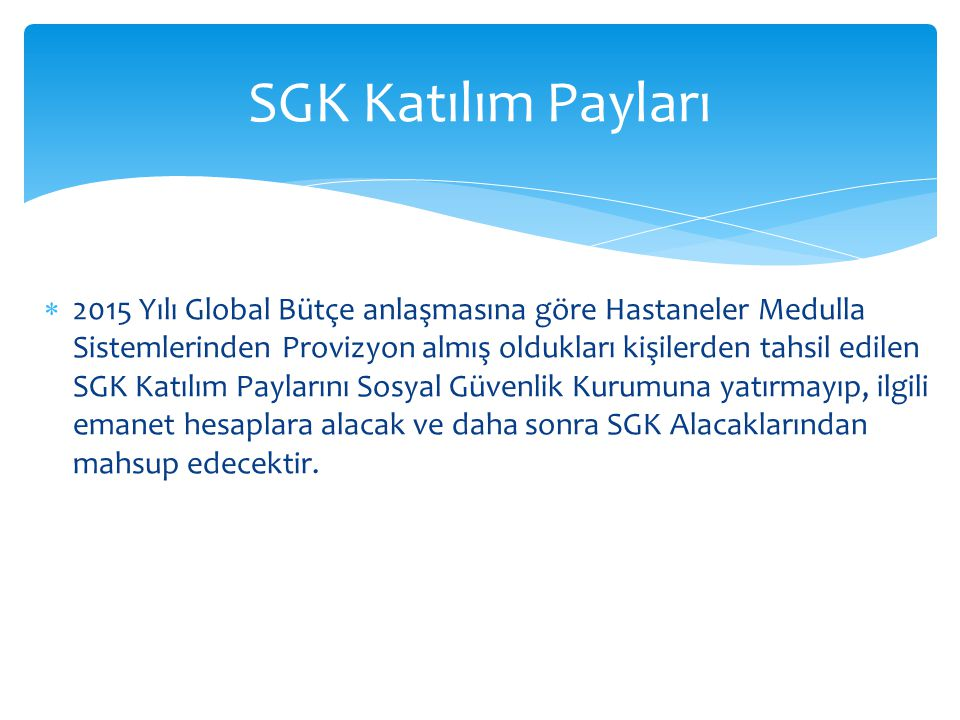 SGK Katılım Payları