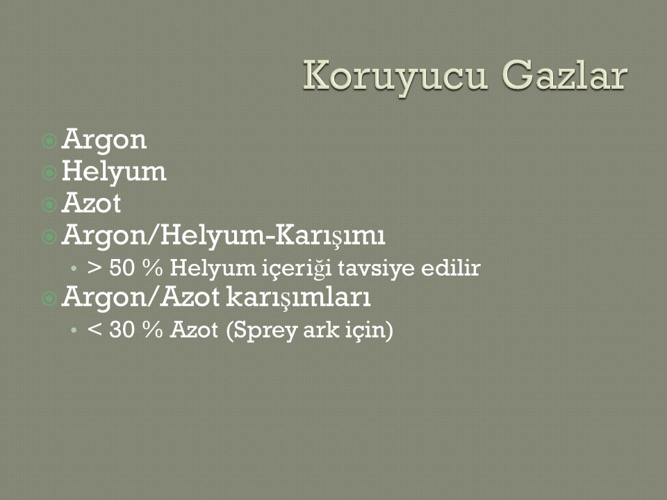 Koruyucu Gazlar Argon Helyum Azot Argon/Helyum-Karışımı