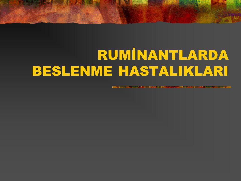 RUMİNANTLARDA BESLENME HASTALIKLARI