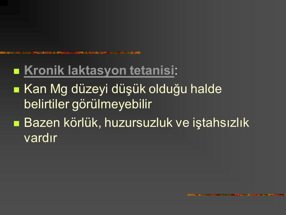 Kronik laktasyon tetanisi: