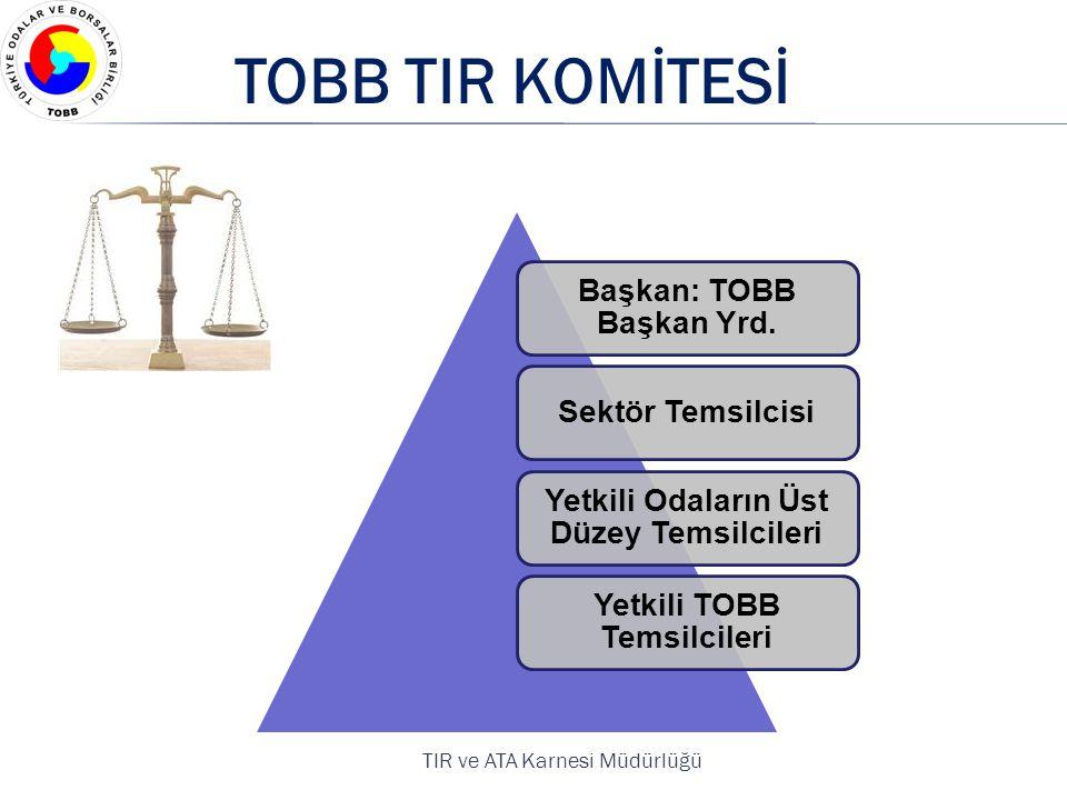 TOBB TIR KOMİTESİ Başkan: TOBB Başkan Yrd. Sektör Temsilcisi
