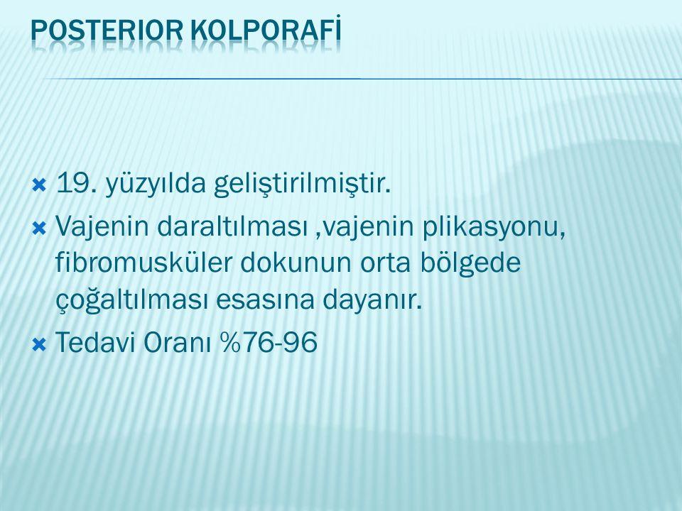 Posterior Kolporafİ 19. yüzyılda geliştirilmiştir.