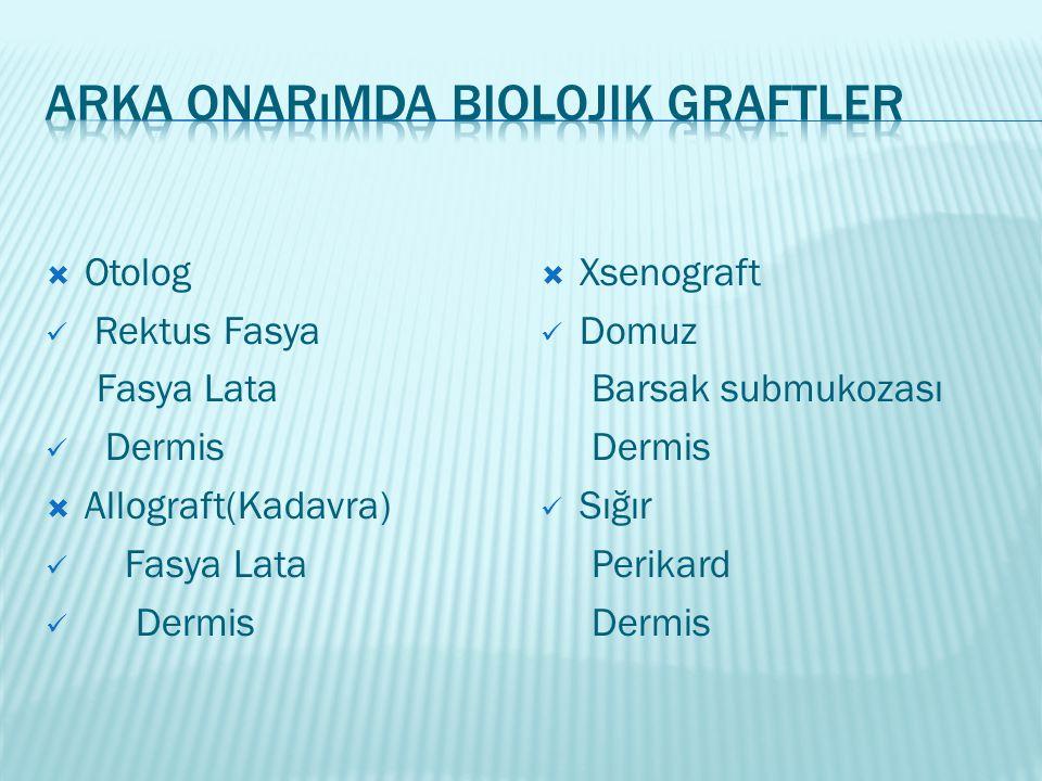 Arka Onarımda Biolojik Graftler