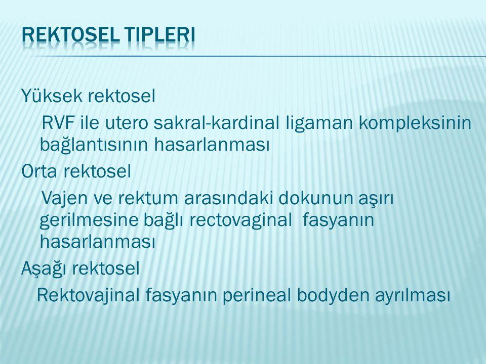 Rektosel Tipleri Yüksek rektosel