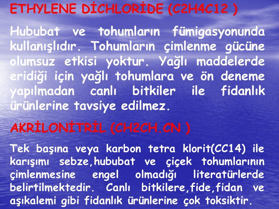 ETHYLENE DİCHLORİDE (C2H4C12 )