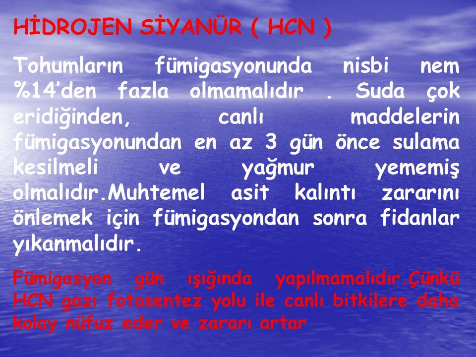 HİDROJEN SİYANÜR ( HCN )