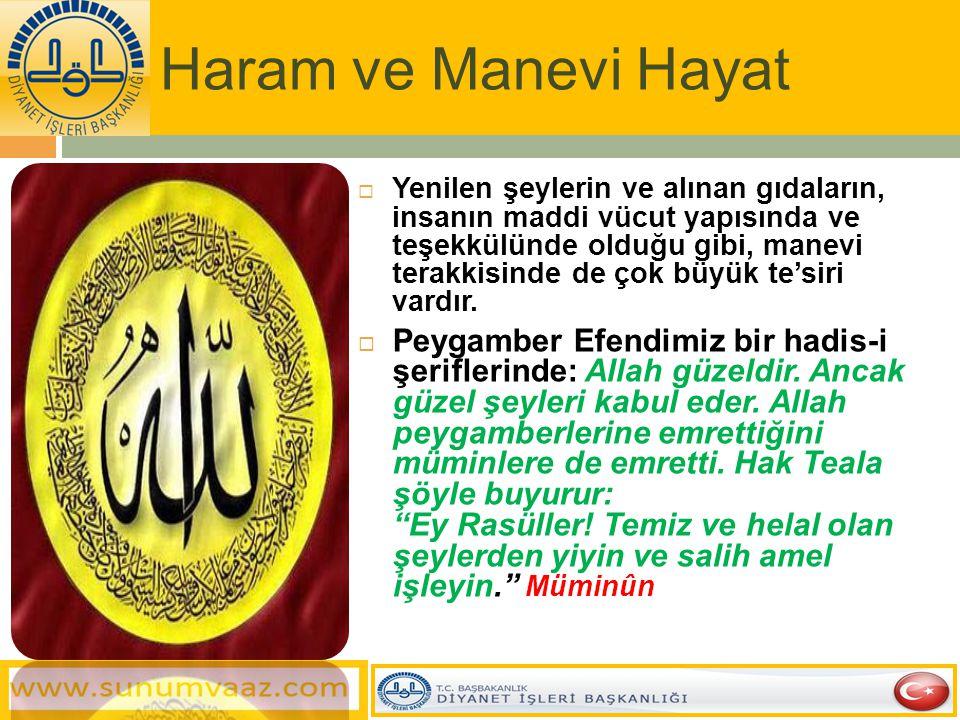 Haram ve Manevi Hayat