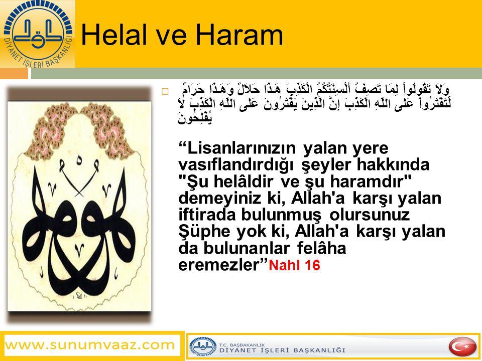 Helal ve Haram