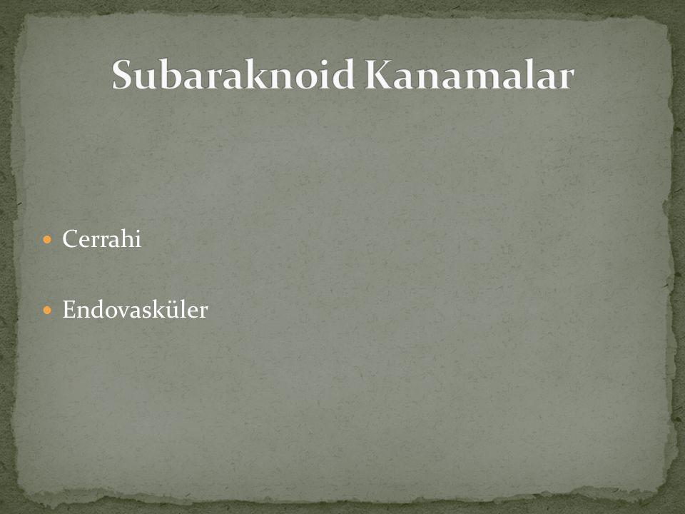 Subaraknoid Kanamalar