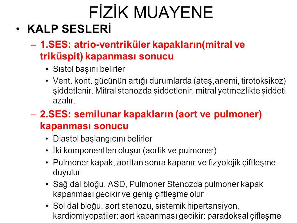 FİZİK MUAYENE KALP SESLERİ