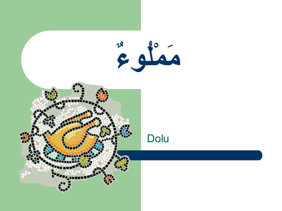 مَمْلُوءٌ Dolu