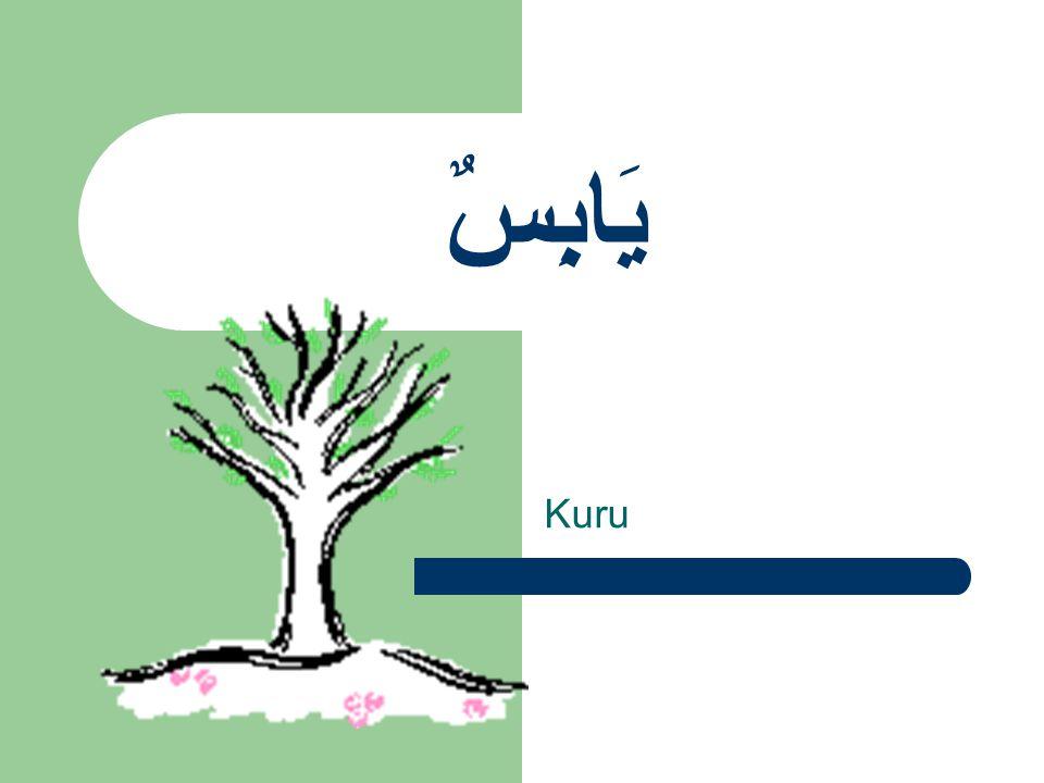 يَابِسٌ Kuru