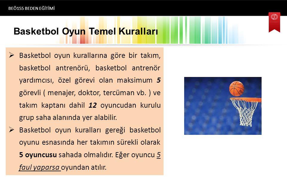 Basketbol Oyun Temel Kuralları