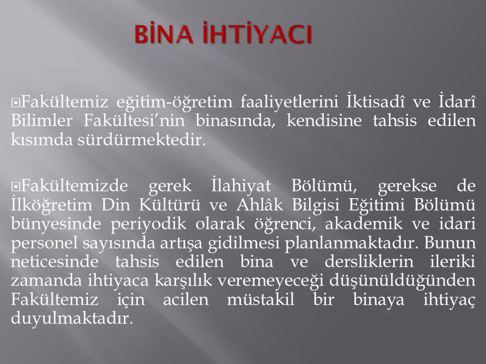 BİNA İHTİYACI