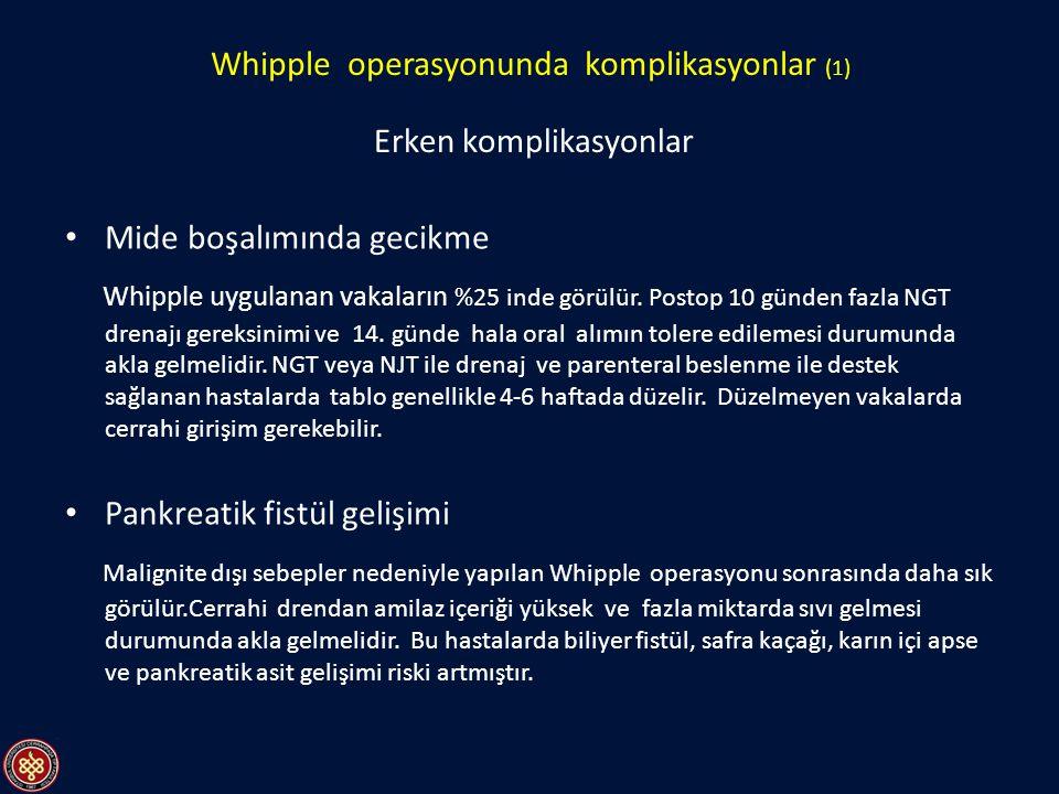 Whipple operasyonunda komplikasyonlar (1)