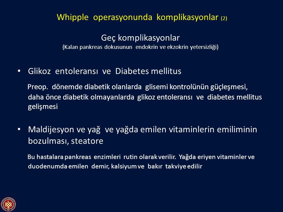 Whipple operasyonunda komplikasyonlar (2)