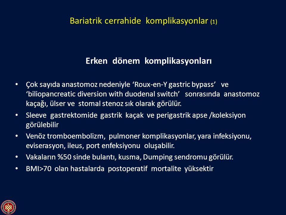 Bariatrik cerrahide komplikasyonlar (1)