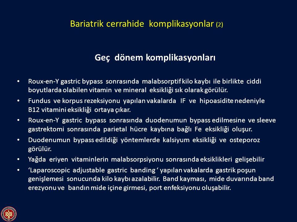 Bariatrik cerrahide komplikasyonlar (2)