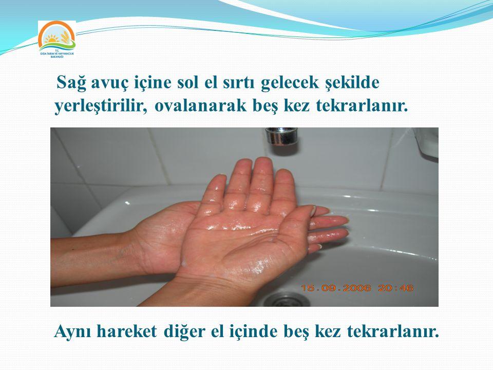 Aynı hareket diğer el içinde beş kez tekrarlanır.