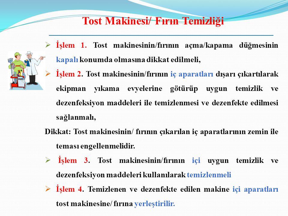 Tost Makinesi/ Fırın Temizliği