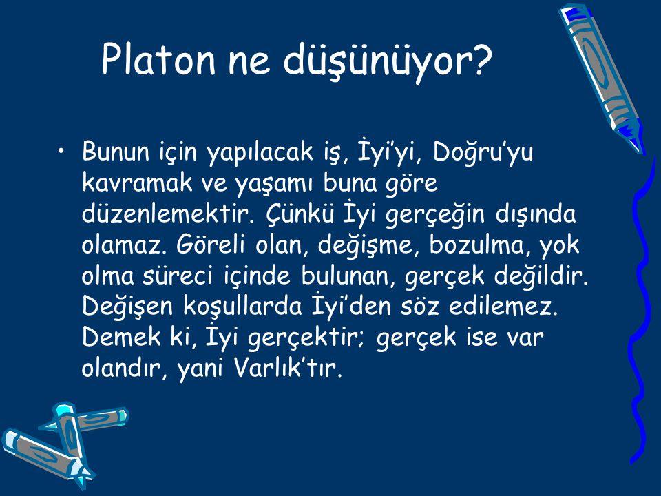 Platon ne düşünüyor