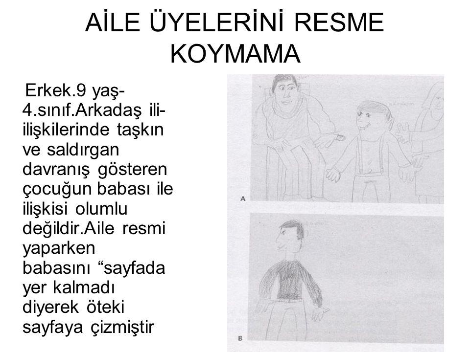 AİLE ÜYELERİNİ RESME KOYMAMA