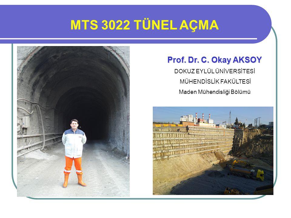 Prof. Dr. Turgay ONARGAN Prof. Dr. C. Okay AKSOY MTS 3022 TÜNEL AÇMA