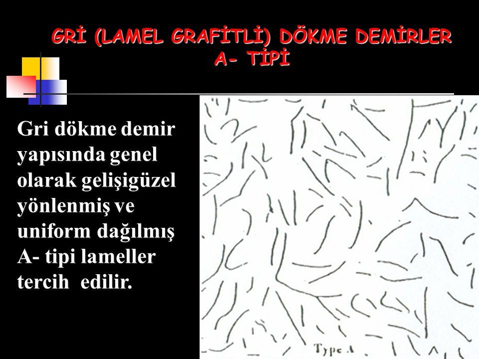GRİ (LAMEL GRAFİTLİ) DÖKME DEMİRLER A- TİPİ