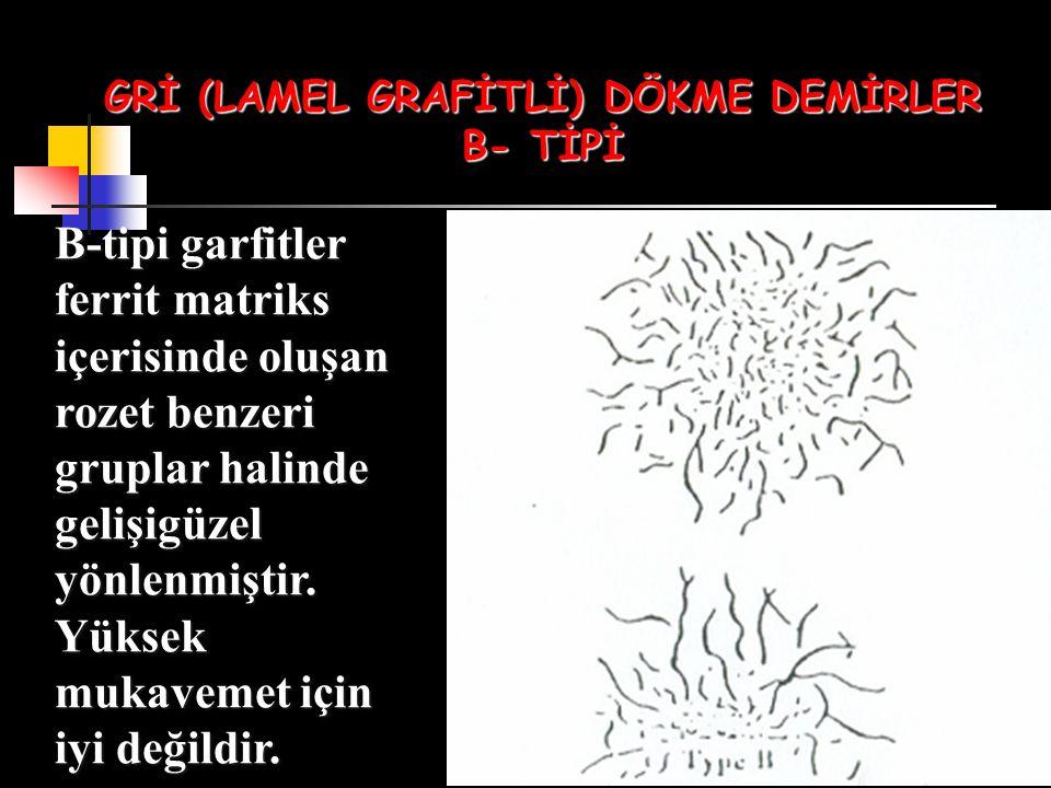 GRİ (LAMEL GRAFİTLİ) DÖKME DEMİRLER B- TİPİ