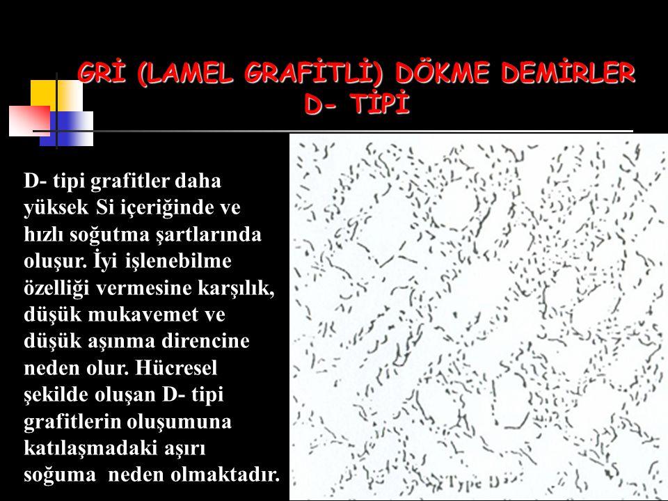 GRİ (LAMEL GRAFİTLİ) DÖKME DEMİRLER D- TİPİ