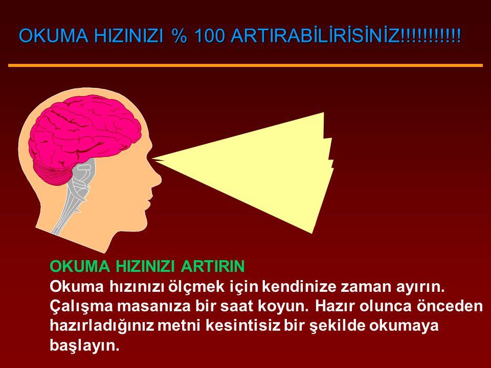 OKUMA HIZINIZI % 100 ARTIRABİLİRİSİNİZ!!!!!!!!!!!